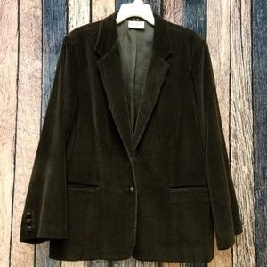 Vintage Dark Brown Corduroy Jacket